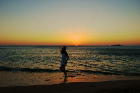 Zachód słońca Kreta Falasarna
