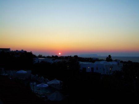 Zachód słońca Kreta
