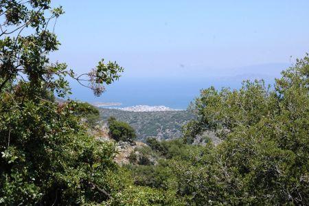 Widok z Lato na Agios Nikolaos