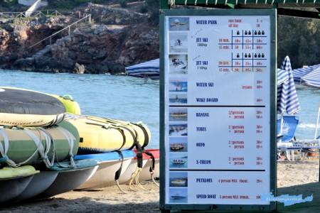 Almyros plaża  cennik sportów wodnych Kreta