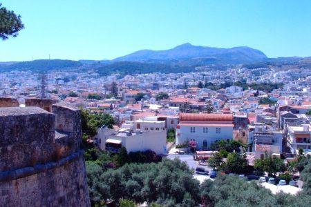 Widok z twierdzy Rethymnon Kreta
