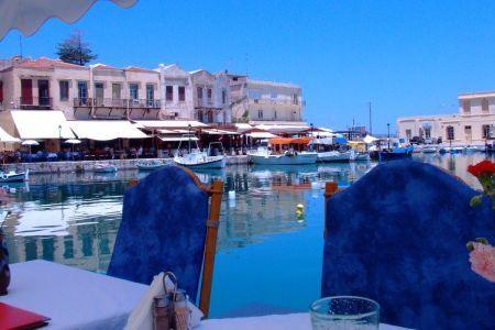Rethymnon restauracja w starym porcie, Kreta